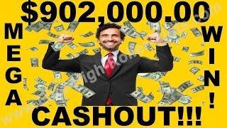 •Mega Big $902,000.00 Thousand Dollar Cashout! Aristocrat, IGT WMS High Limit Jackpot, Handpay! • Si