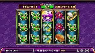 EMERALD QUEEN Video Slot Casino Game with an EMERALD QUEEN FREE SPIN BONUS