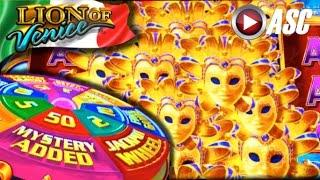 *NEW* SUPER WHEEL BLAST | Aristocrat - Big Win! Slot Machine Bonus (Lion of Venice)