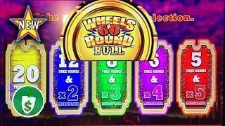 •️ New - Wheels Go Round Bull slot machine, bonus
