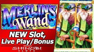 Merlin's Wand Slot - New Slot, First Attempt with Live Play and Free Spins