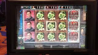 Black Widow Re trigger Bonus Mega Win Boom $75 a spin