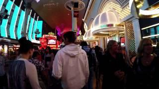 Walking in Downtown Las Vegas at night - Fremont Street Experience in 4K HD