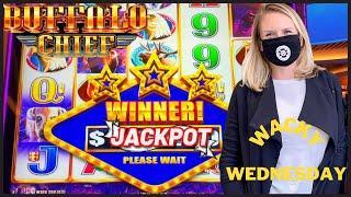 WACKY WEDNESDAY W/ GRETCHEN #3 HANDPAY JACKPOT Buffalo Chief HIGH LIMIT $50 MAX BET Bonus Round