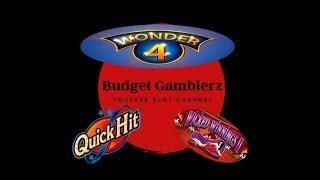 WONDER 4 ~ QUICK HIT WILD RED ~ Nice Wicked Winnings Line Hit ~ Live Slot Play @ San Manuel
