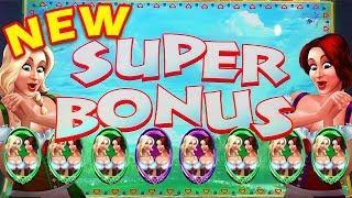 •NEW SLOT• RARE SUPER BONUS TRIGGERED! Heidi and Hannah's Bier Haus Slot Big Win