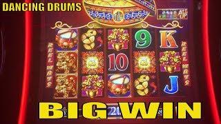 •BIG WIN•DANCING DRUMS Slot machine (SG) Free Play Slot Live & 4 Bonuses Games•彡@ San Manuel  栗スロット