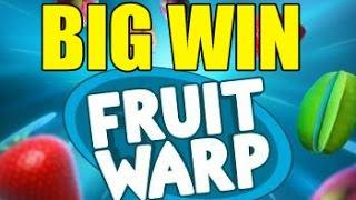 Online slots BIG WIN 2 euro bet - Fruit Warp HUGE WIN with epic reaction