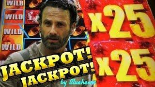 •JACKPOT HANDPAY• The WALKING DEAD 2 slot machine AMAZING WINS and JACKPOT!