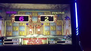 £5 max bet bonus on Pharaohs fortune deluxe