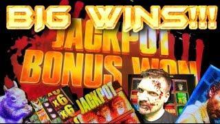BIG WINS!!! Bonuses on Walking Dead Slot Machine