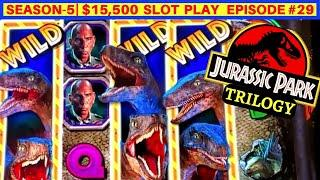 New JURASSIC PARK TRILOGY Slot Machine Max Bet Live Play| SEASON 5 | EPISODE #29