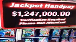 •$1,247,000.00 Million Cashout Casino Video Slot Machine Jackpot Handpay Quick Hit, Cleopatra • SiX
