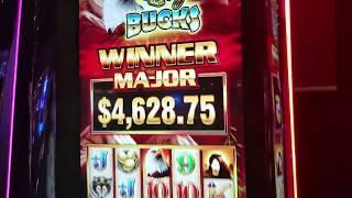 ENORMOUS SURPRISE JACKPOT!!! Eagle Bucks slot handpay