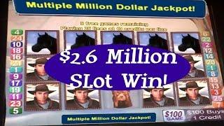 •$2.6 Million • Vegas Elite High Roller Casino  Machine Jackpot Handpay Aristocrat, WMS • SiX Slot -