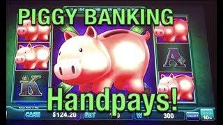 HANDPAYS on • Lock it Link Piggy Bank •Slot Machine (high limit)
