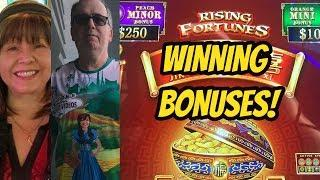 WINNING MAX BET BONUSES ON RISING FORTUNES