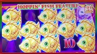 ** WIFE's SUPER BIG WIN ON HOPPIN' FISH POKIE MACHINE ** SLOT LOVER **