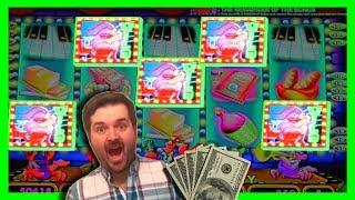 VERY RARE HIT! I LANDED ALL 5 WILDS IN THE BONUS On Live Lobsters Dancing Nightly Slot Machine