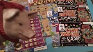 Scratchcard Saturday..3x GOLD FEVER...Cash Pyramid..Lotto..Cash Word..Cash Triplet's.etc