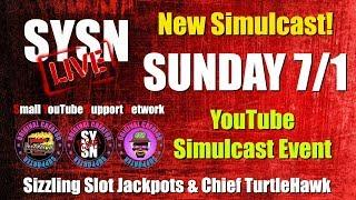 LATE NIGHT SYSN LIVE with SIZZLING SLOT JACKPOTS and CHIEF TURTLEHAWK • CHAT • NETWORK and FUN!