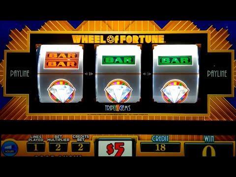 Wheel of Fortune Slot Machine - Triple Gems - $10 Max Bet *LIVE PLAY* Wheel Bonus!