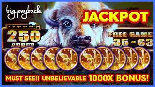 OVER 1000X JACKPOT!! Buffalo Chief Slot - ULTRA RARE 250 BUFFALO ADDED!!