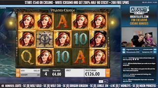 BIG WIN!!! Pirates Charm - Huge Win - Casino Games - free spins (Online Casino)