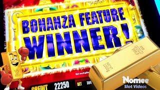 •WINNING!! • GOLD BONANZA Slot Machine - Multiple Bonuses!