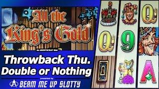 All The King's Gold Slot - TBT Double or Nothing, Live Play with Free Spins and Re-Spins