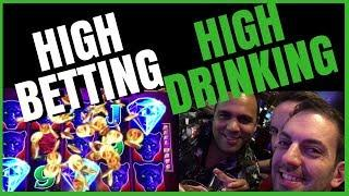 • HIGH LIMIT Late Night #BRUNK in Vegas! • It doesn't get any worse than that! • Slot Fun w BC