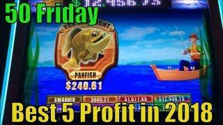 •BEST 5 PROFIT IN 2018•50 FRIDAY•50 Videos (139 Slot games) uploaded on YouTube in 2018•彡栗スロット/カジノ