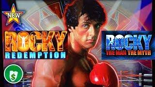 •️ NEW - Rocky Redemption, and The Man The Myth slot machines, bonuses
