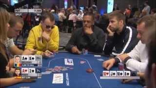 Gerard Pique (FC Barcelona player) playing poker and bluffing