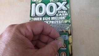 100X the Cash! $20 Instant Lottery Ticket Illinois Scratchcard video
