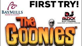 •FIRST ATTEMPT• •️THE GOONIES SLOT MACHINE•️ •FREE SPINS BONUS•