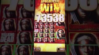 Massive Win!!! Max Bet Walking Dead 2 Slot Machine Full Screen Michonne. Better Than Hand Pay!!!!