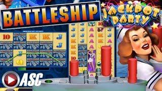 •JACKPOT PARTY CASINO FRIDAY• BATTLESHIP (SG/WMS) •GAME REVIEW!•
