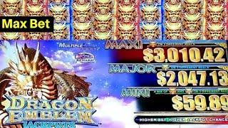 Dragon Emblem Jackpots Slot- Max Bet Rare 5 Triggers Bonus | GREAT SESSION | Live Slot Play w/NG