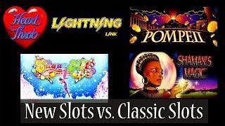 (New Slots vs Classic Slots) Lightning Link Hart Throb, Ponpaii, Sugar Hits and Shaman's Magic • man