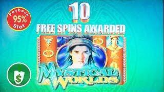 Mystical Worlds 95% payback slot machine, bonus