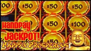 HIGH LIMIT Dragon Link HAPPY & PROSPEROUS HANDPAY JACKPOT ⋆ Slots ⋆ $50 Bonus Round Slot Machine Cas