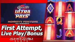 Quick Hit Ultra Pays Slot - Live Play/Free Spins Bonus alongside Albert's Slot Channel