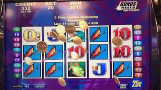 Brazil - $5 Bet Wins Big Jackpot Handpay on Free Games Bonus