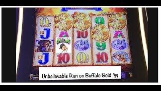 An absolutely amazing run on Buffalo Gold! Retriggers and bonuses after bonuses!