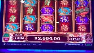 JACKPOT LIVE AS IT HAPPENS ON DRAGON LANTERNS SLOT MACHINE! Casino Live Stream W/ SDGuy1234