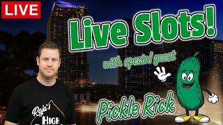 Live Las Vegas Afternoon Slots with Special Guest Pickle Rick!