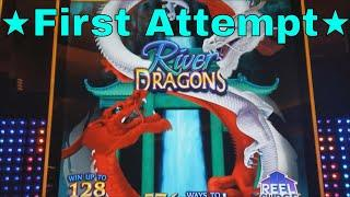 •First Attempt• River Dragons Slot Machine Live Play