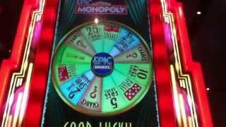 Epic Monopoly Slot Machine Bonus - Wheel Spins Bonus