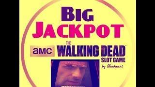 **HUGE JACKPOT** The WALKING DEAD slot machine JACKPOT HANDPAY with BONUS WIN